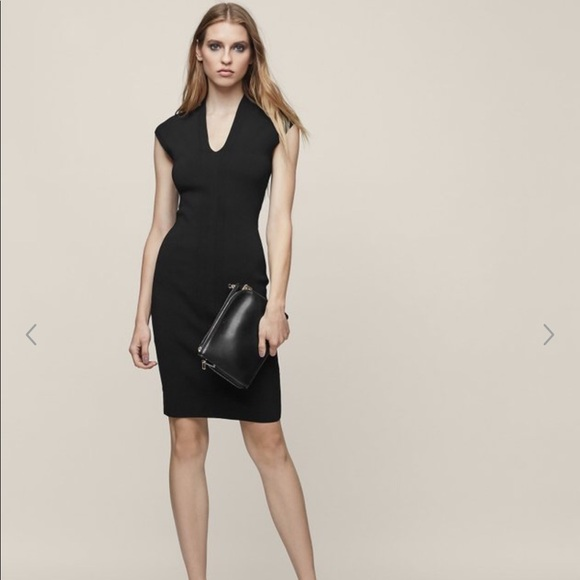 Reiss Dresses Jasmine Knitted Bodycon Black Dress Size 4 Poshmark